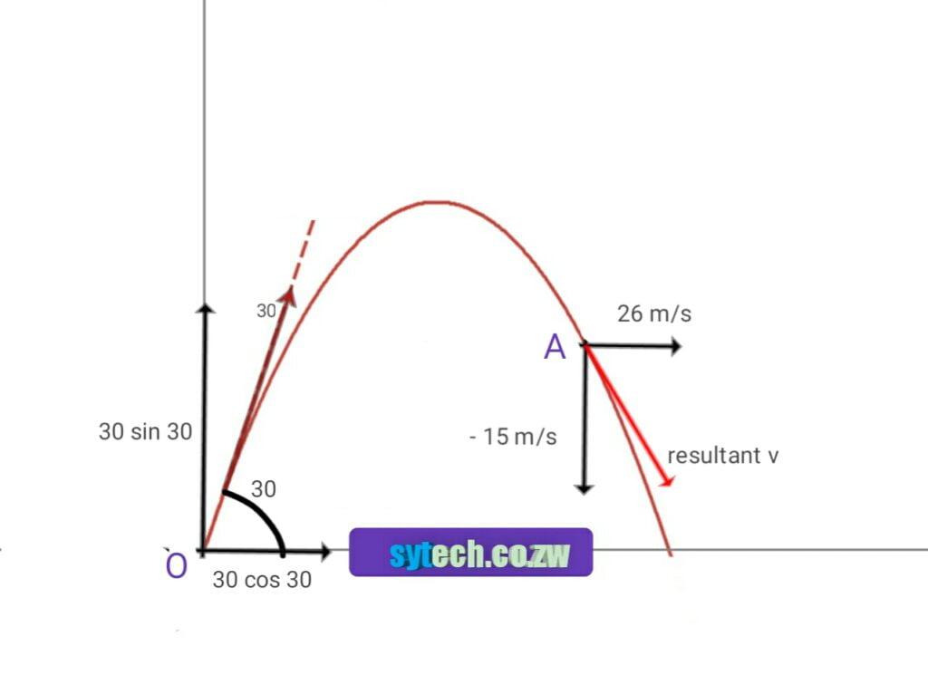 Projectile diagram