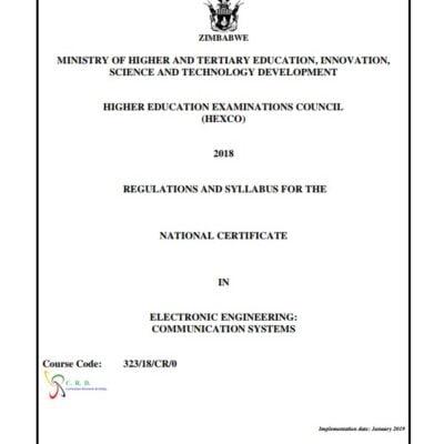 N.C. Electronic Engineering Communication Systems Syllabus pdf
